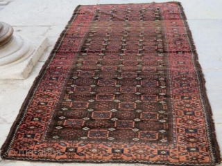 Antique beluch rug with small damage,260 x 105 cm 