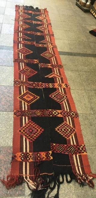 Kurdish herki rug with little damage,370 x 80 cm  www.eymen.com.tr