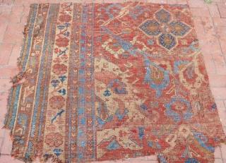 19 th century usak rug fragment.160 x 140 cm