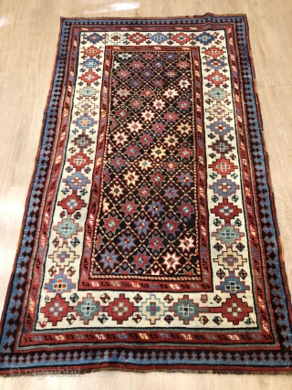 Antique Talish kazak rug in perfect condition .190 x 110 cm 