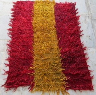 Anatolian rug tullu from konya pure wool natural color in good condition .140 x 98 cm  www.eymen.com.tr