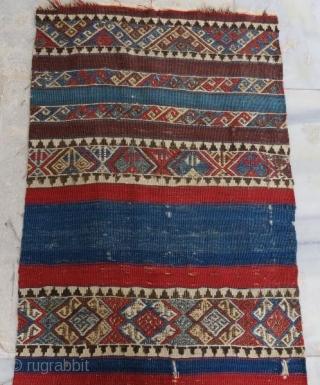 Antique Anatolian kilim fragment,290 x 70 cm