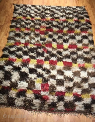 Antique anatolia tullu in good condition pure wool natural color,205 x 150 cm