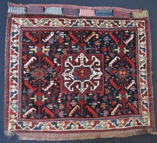 Antique khamse bag face in good condition pure wool natural dyes,68 x 60 cm