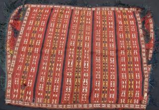 Turkmen jajim horse cover with few little damage, 150 x 105 cm