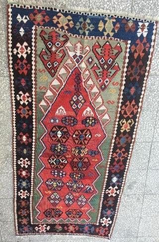 Anatolian prayer kilim in good condition 145 x 75 cm