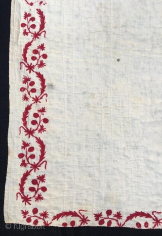 Turkish anatolian baby quilt, silk emroidery on cotton prayer pattern , 157 x 103 cm  www.eymen.com.tr