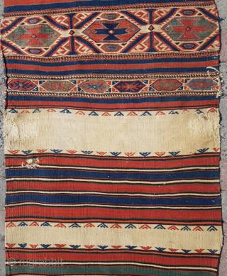 19.th century Bergama Chuval 70x218