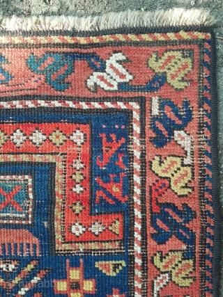 19.century Caucasian Rug size 57×107 cm