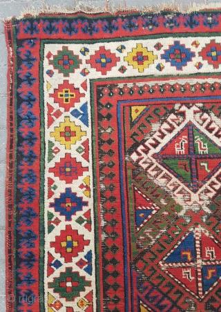 1850' Caucasian Rug sıze 112×250