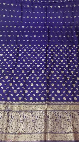 Vintage Pitambari sari real Zari work from Varanasi city of Uttar Pradesh India C.1900 used by the royals families of India.