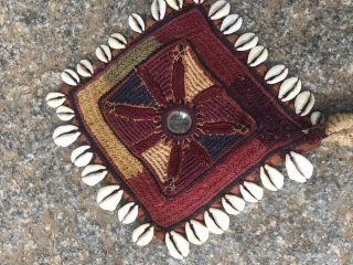 Banjara gala of head pot holder decoration  from Bellary district of Karnataka India 1900 c..the size of gala is 10 inches X 7 inches and the small part is 4 inches  ...