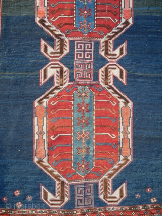 Antique Caucasian Lenkoran Rug circa 1880  This is a stunning antique Caucasian Lenkoran rug hand-knotted in the second half of the 19th century (1800s) Title: Antique Kazak Origin (City & Country): The Caucasus, Azerbaijan (formerly  ...