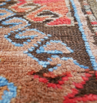 A very unique rendition of the Karabagh or Chelaberd SUNBURST or EAGLE Kazak. A highly unusual, charismatic Caucasian rug worthy of the most discriminate of collectors The so-called Eagle (or Adler) Kasak with  ...