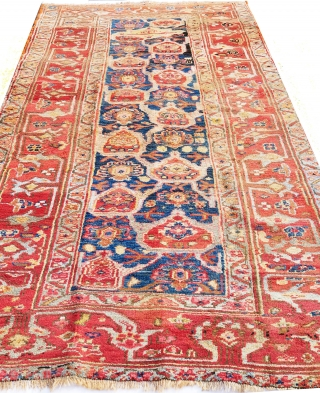 Antique Village Kurdish Bijar rug dated 1339