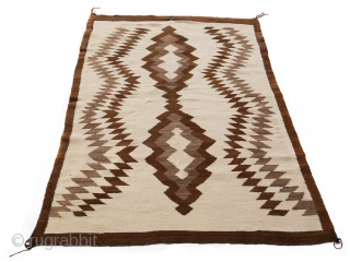 """Late 19th or early 20th century Two Grey Hills Native American Navajo throw (possibly a transitional period artifact) in a very good condition. Size: 65"""" X 45"""" 165x114cm) Price $1000 usd Free shipping  ..."""