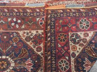 Antique Persian Shiraz Saddlebag Size.62x50=62x50 Cm
