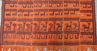 Antique Shahsavan Horse Cover Circa 18870-80 Size.168x165 Cm