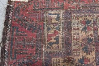 Antique Baluch Prayer Rug Size.138x78 Cm