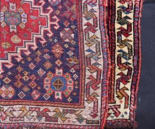 Antique Qashqaii Bag face Size.68x50 Cm