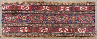 Antique Shahsevan Sumak Panel All Colours Natural Size.100x37 Cm