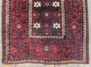 Antique Baluch Rug Size.190x105 Cm