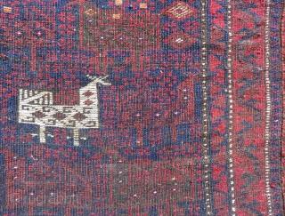 Antique Baluch Bag face Size.78x66 Cm