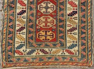 Mid 19th Century Caucasian Shirvan Kuba Rug Size.260x92 Cm