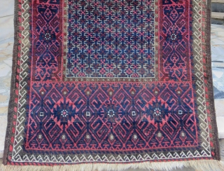 Antique Baluch Rug Size.135x82 Cm