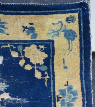 Antique China Bag face rug Size.96x90 Cm