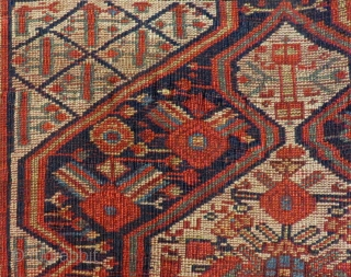 Antique Persian Qashqai Bagface Size.74x55 Cm