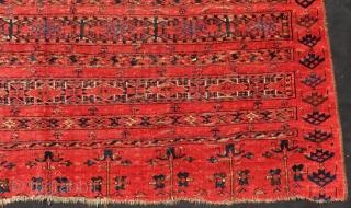 Antique Türkmen Ersari Chuval Rug Size.168x92 Cm