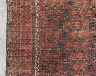 Antique Baluch Rug Size.135x110 Cm