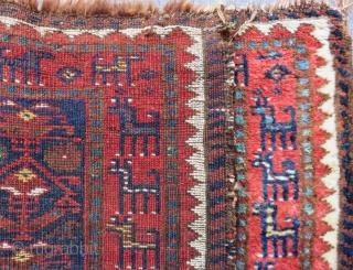 Antique Persian Shiraz Bag face Circa 1880-90 All Colours Natural Size.80x63 Cm