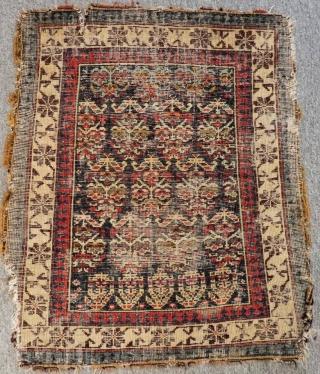 Antique Caucasian Shirvan Bag face Size.62x52 Cm