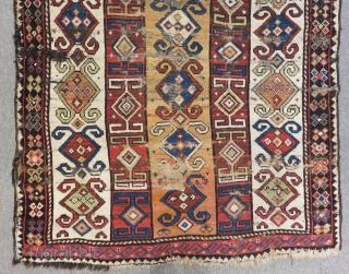 Second 19th C Caucasian Zakatala Rug Size.176x116 Cm