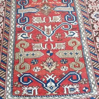 Antique Caucasian Shirvan Perepedil Size.137x96cm