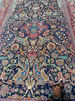 Fine pair kashan rugs Excellent colors,in mint condition,edges are in good condition,circa 1920