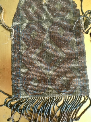 European art deco purse .11 8* 9 centimetres metal and cotton fragile, Pay PayPal or BACS transfer   postage included   for UK only