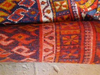 Colourful runner in very good condition, 415 x 107 - 13'6 3'6.  Circa 1930. North West Persian.