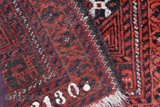 "Antique Tribal Arab Ferdows Baluch bagface 73 x 62 cm (2ft 5"" x 2ft 1"") late 19th century. All natural dyes. Condition: good, medium pile all over (minor wear, see pics), original  ..."