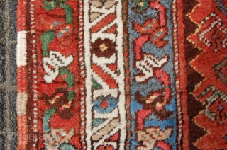 """antique Kurdistan runner 320 x 103 cm (10f 8"""" x 3ft 5"""") early or 1st quarter 20th century. All natural dyes. Condition: ready to use, evenly medium to low pile (minor wear  ..."""