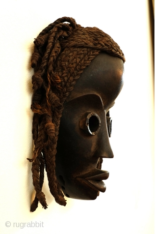 Dan mask, Gunye GE, Ivory Coast, high 23 Cm. wide 14 Cm. 