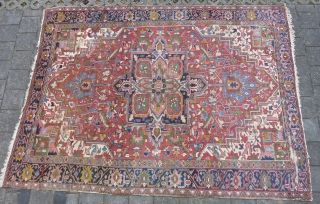 "Heriz rug 375  x 275 cm., 12'4"" x 9' ,ca. 1900."