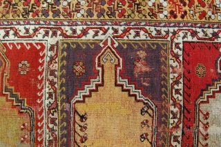 "3'*""x11'5"" Kirshehir 'Saf', old enough to be interesting, wrecked enough to be reasonable. Please check our Facebook page - Robert Mann Oriental Rugs - for photos of pieces in our December 6  ..."