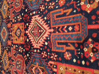 "This late 19th century Shirvan #7855 measures 4'6"" X 7'0"". I do not know the name of this motif. It is very rare and I have only seen it a couple of  ..."