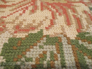 """European (French or Russian) Chain Stitch Carpet 11'6"""" X 12'0"""" #7876 This first half 20th century European (French or Russian) Chain Stitch carpet measures 11'6"""" X 12'0"""" (253 x 386 cm). It is  ..."""
