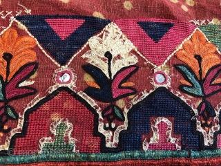 Indian textile Pair size 7 x 2