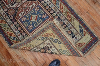 Antique Caucasian Kuba Shirvan 3'2''x9'1''.  Untouched original condition.  Needs a little love.