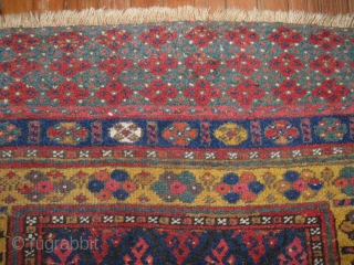 Antique Jaff.  3'x3'6''.  Excellent condition.  Yummy colors..  Original condition.
